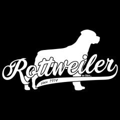 Rassehund Rottweiler (weiß)