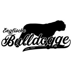 Hunde T-Shirt Englische Bulldogge (schwarz)