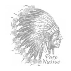 Indianer Kopf mit Federn