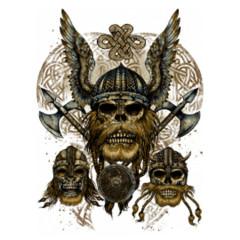Drei Wikinger Schädel