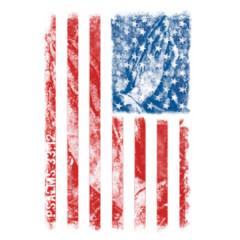 Betende Hände - USA Flagge