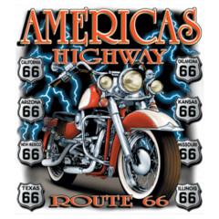 Amerikas Highway Route 66 Motorrad