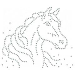 Strass Glitter Pferdekopf