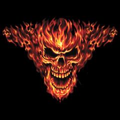 Brennender Totenkopf