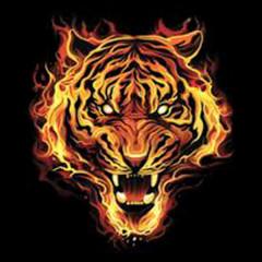 Burning Tiger (Oversize)