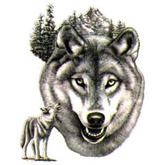 Heulender Wolf Motiv