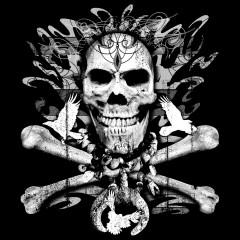 Totenschädel mit gekreuzten Knochen
