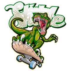 Free Wave Skate Dino