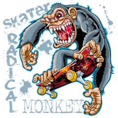 Skater Gorilla