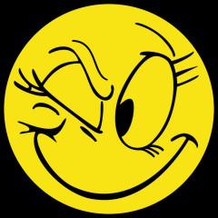 Zwinkerndes Comic Smiley