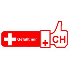 Schweiz  - Like it - Daumen hoch
