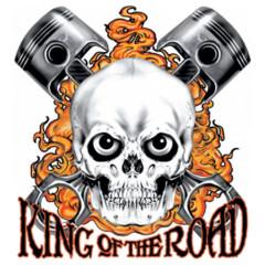 Biker Schädel - King of the Road