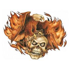 Brennender Adler mit Totenkopf