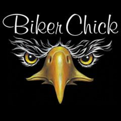Biker Chick - Eagle Face