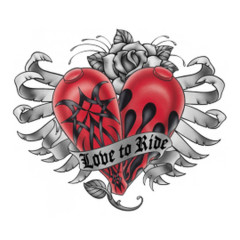 Biker Motiv: Love to Ride - Herz
