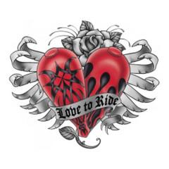 Biker Motiv: Love to Ride - Herz