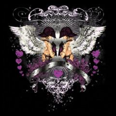 2 Engel mit Helm und Herz