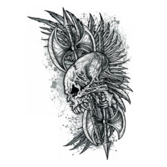 Skull, Feathers and Axes