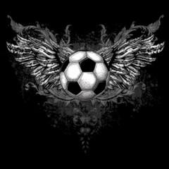 Fußball mit kunstvoller Schmiedearbeit