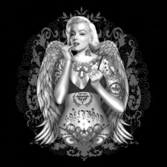 Pin-Up: Marilyn Monroe with wings and tattoos