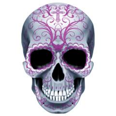 Dia de los muertos - Totenschädel mit pinker Dekoration