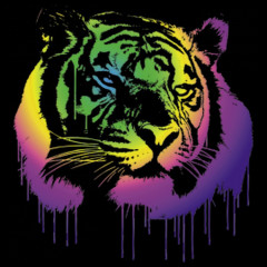 Neon Tiger Kopf