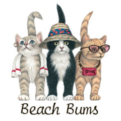 Beach Buns - Touristenkatzen (Front)