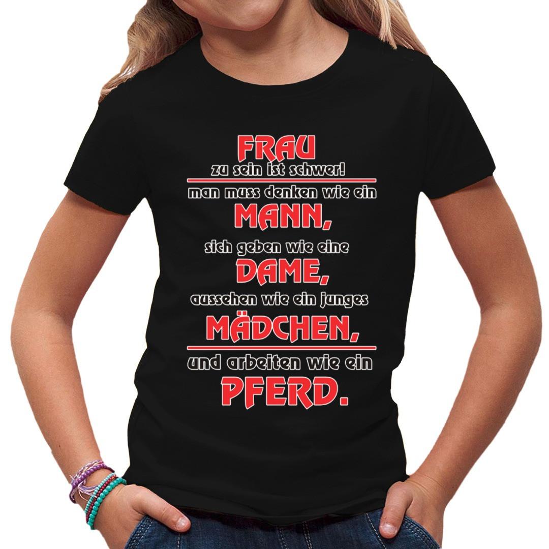 Spruch Shirt: Frau zu sein ist schwer - T-Shirt selbst